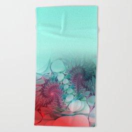 curtain spider's work -3- Beach Towel