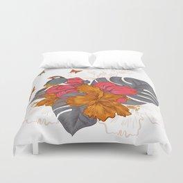 Parrot on a rose - Butterflies / Butterfly Duvet Cover