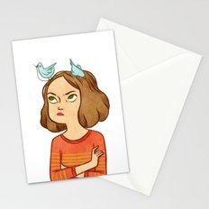 Pájaros en la cabeza Stationery Cards