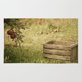 apple crate photograph Rug