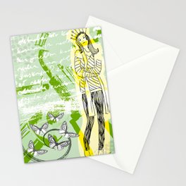 Unhappy Girl Stationery Cards