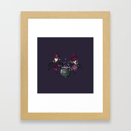 Witch and vampire Framed Art Print