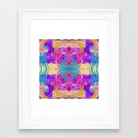 glitch Framed Art Prints featuring GLITCH  by Vasare Nar