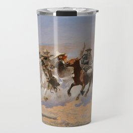 A Dash for the Timber - Frederic Remington Travel Mug