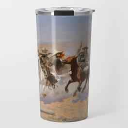 A Dash for the Timber - Frederic Remington Travel Mug