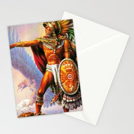 Caballero Aztec Warrior and Eagle Animal Spirit by Jesus Helguera Stationery Cards