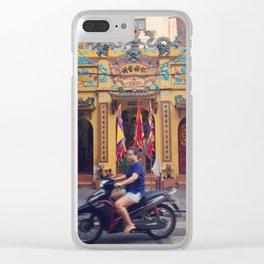 Hanoi Street Scene Clear iPhone Case