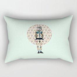 Hipster Owl Man Rectangular Pillow