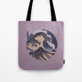 The Great Wave Off Kanagawa Erupting Mt Fuji Tote Bag