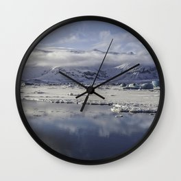 Jokulsarlon Lagoon Beach 12  Wall Clock