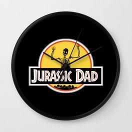 Jurassic Dad Skeleton Funny Birthday Gift Wall Clock
