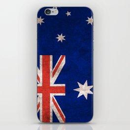 Australia Flag (Vintage / Distressed) iPhone Skin