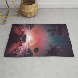 Outrun Classic Sunset Ride Rug