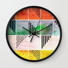 Mosaic Abstract coral Wall Clock