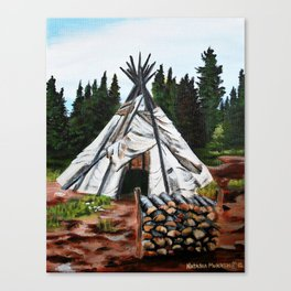 Walking Out Ceremony Teepee Canvas Print