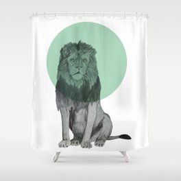 sitting lion Shower Curtain