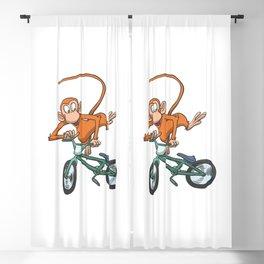 Monkey Race Bike Bicycle Jump Blackout Curtain