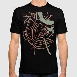 Amsterdam city map pop T-shirt