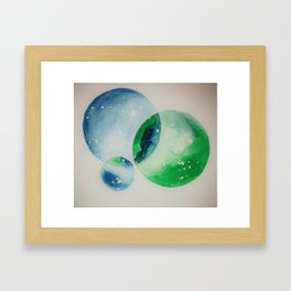 Planets of Intersect Framed Art Print