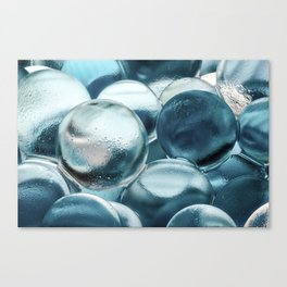 Blue Water Marbles Canvas Print