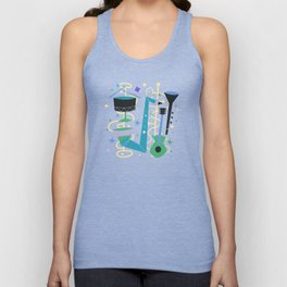 Midcentury Modern Fifties Jazz Composition Unisex Tank Top