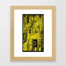 Audio Tape Casette K7 80's Pattern - Pop culture Framed Art Print