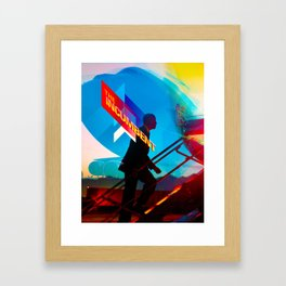 the incumbent Framed Art Print