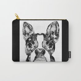 Black And White Terrier Dog Art Sharon Cummings Carry-All Pouch