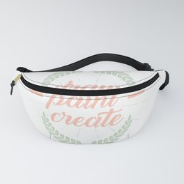 Draw Paint Create Arts House Painter Painting Master Visual School Fanny Pack