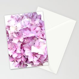 Nantucket Pink Hydrangea Flower Stationery Cards
