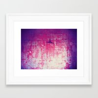there will be blood Framed Art Prints featuring Blood by MelissaG