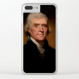 Official Presidential portrait of Thomas Jefferson Clear iPhone Case