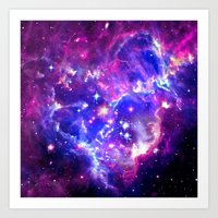 galaxy Art Prints featuring Galaxy. by Matt Borchert