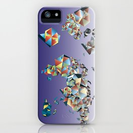 World map geometry iPhone Case