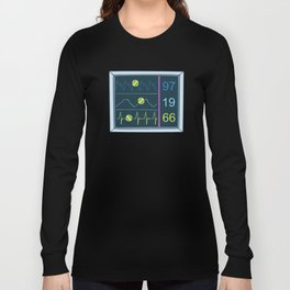 Tennis Heartbeat Injury Hospital Heart Rate Outfit Clothes EKG Pulse Line Gift Long Sleeve T-shirt