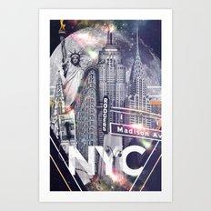 New York Moon Art Print