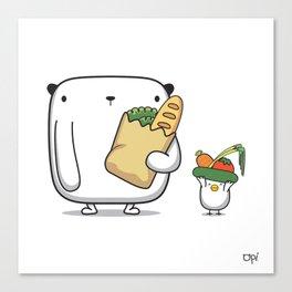 OPi Buy Vegetables Canvas Print