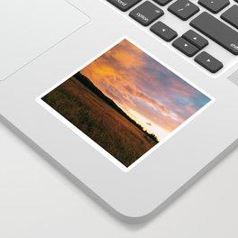 Field Sunset Sticker