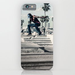 Miami Beach Skatepark Skateboarding poster Skateboarding print photography print iPhone Case
