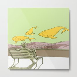 Balene Metal Print