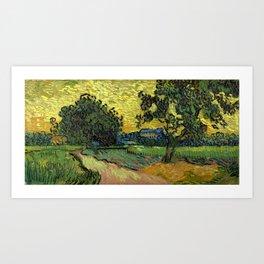 Vincent Van Gogh : Landscape at Twilight Art Print