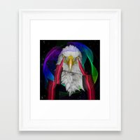 eagle Framed Art Prints featuring eagle by mark ashkenazi