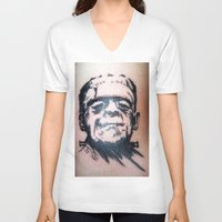 frank V-neck T-shirts featuring Frank by Corey Remington