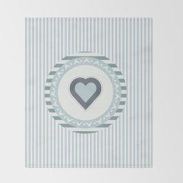Blue heart Throw Blanket