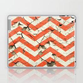 Peeling Chevrons Orange Laptop & iPad Skin