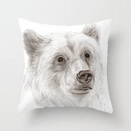Grizzly :: A North American Brown Bear Throw Pillow