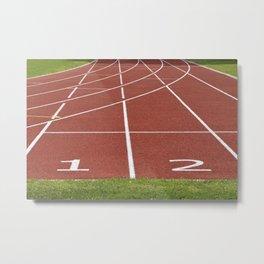 Athletics running racecourse Metal Print
