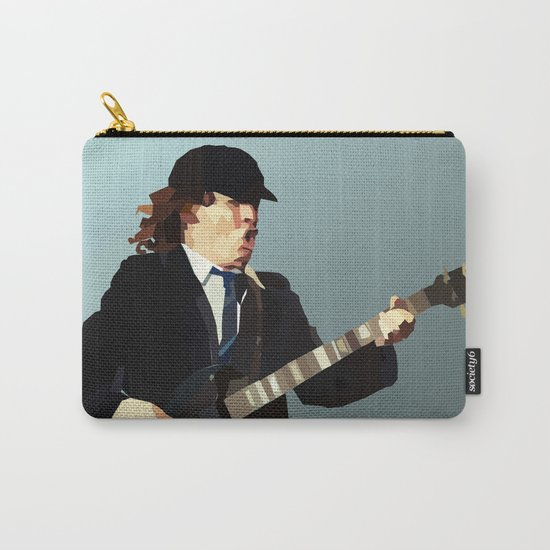 Low Polygon Portrait of Angus Young Carry-All Pouch