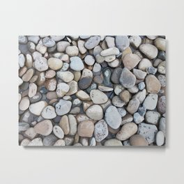 Small stones above the water Metal Print