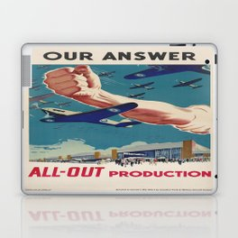 Vintage poster - All-Out Production Laptop & iPad Skin